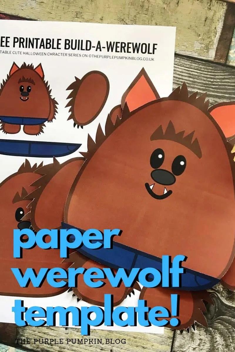 paper werewolf template