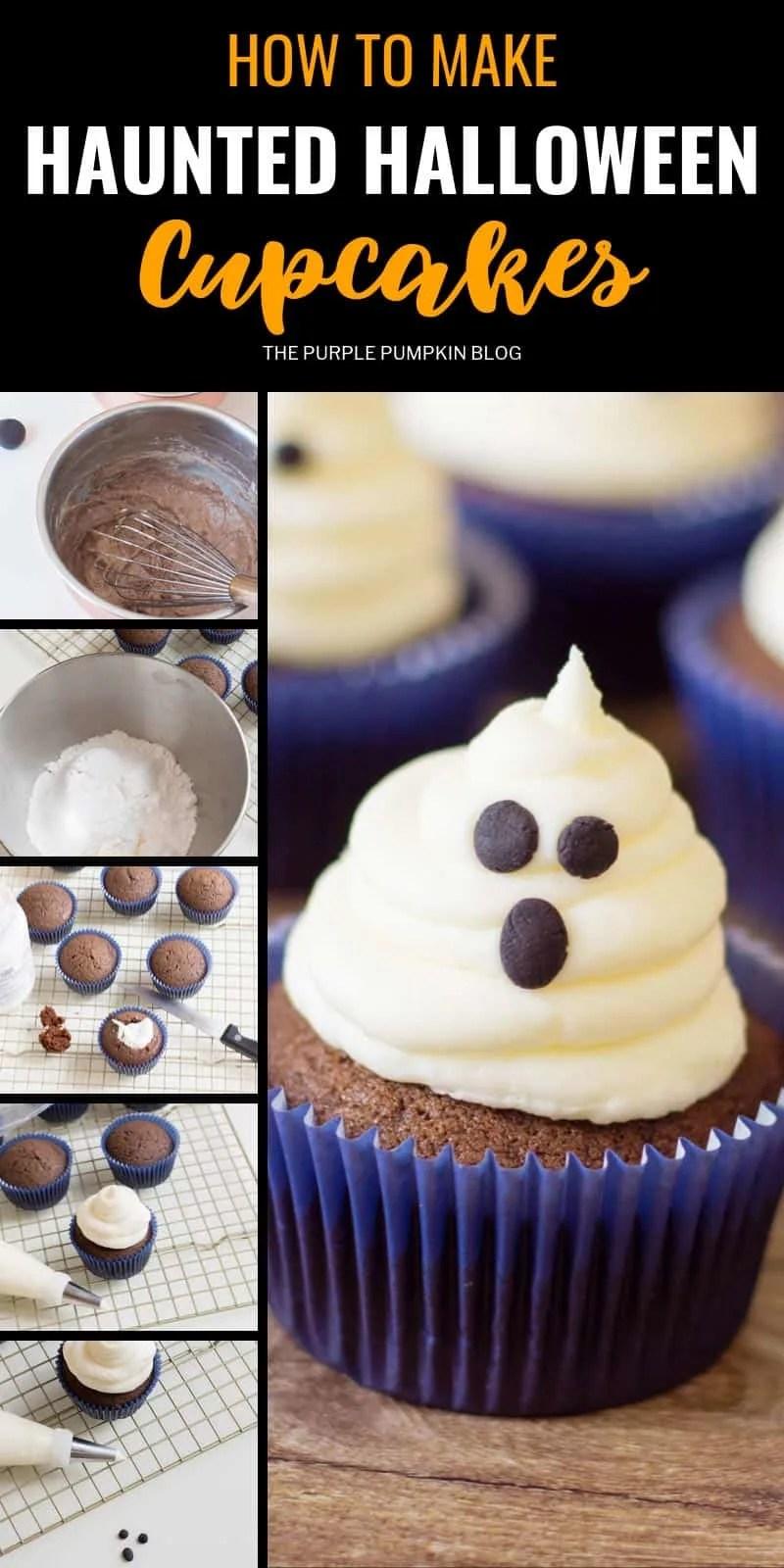 How to make haunted Halloween cupcakes
