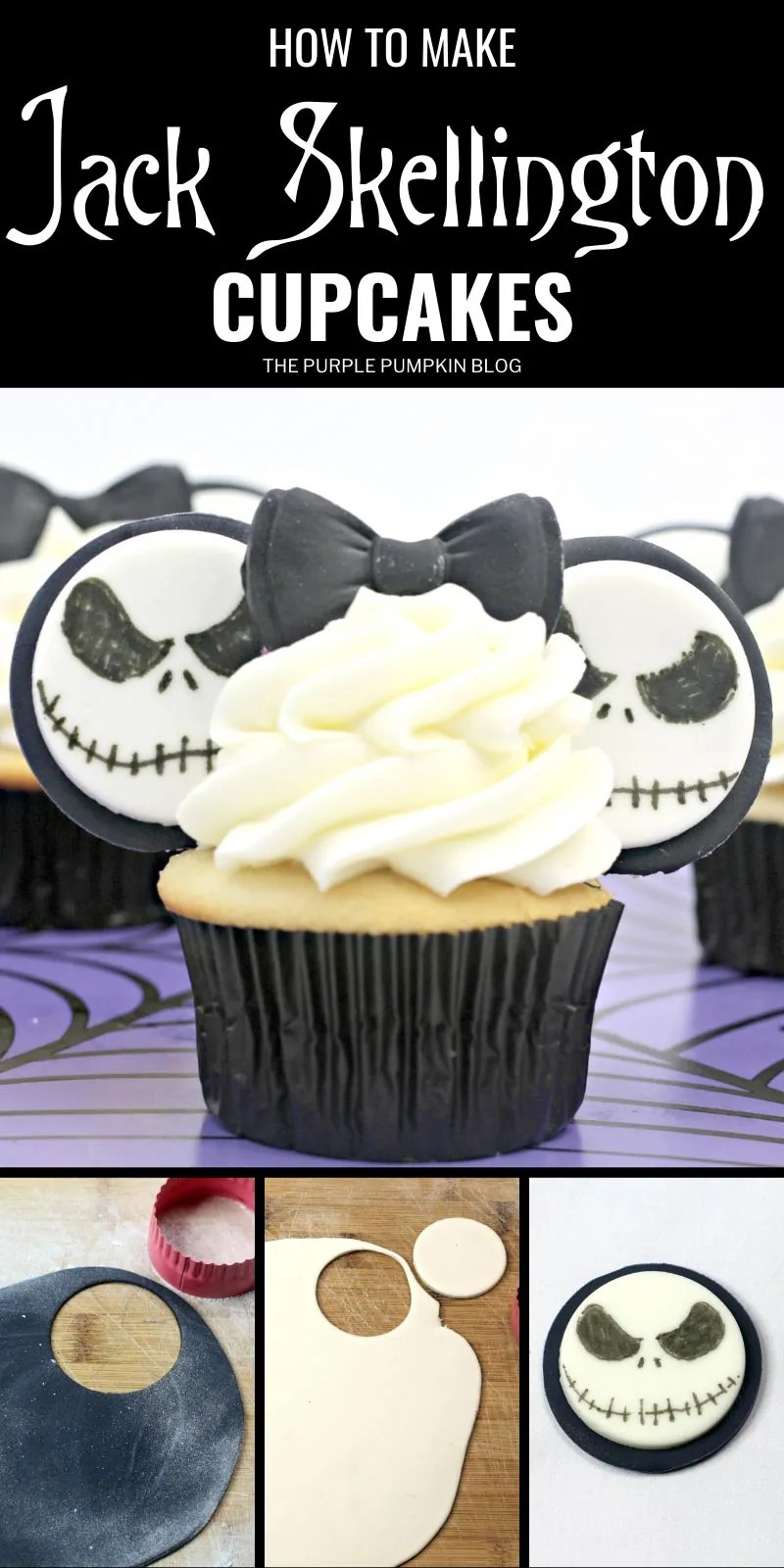 How to make Jack Skellington Cupcakes