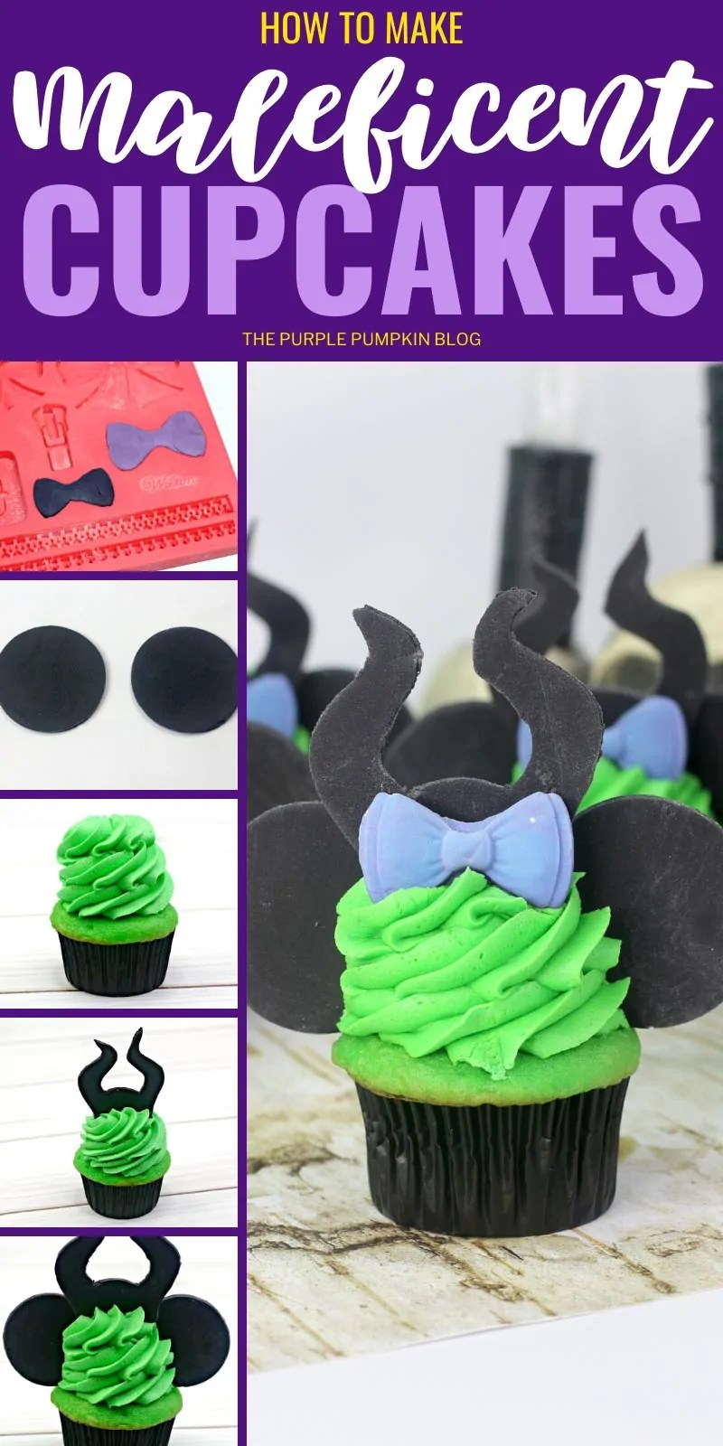 How to make Maleficent Cupcakes