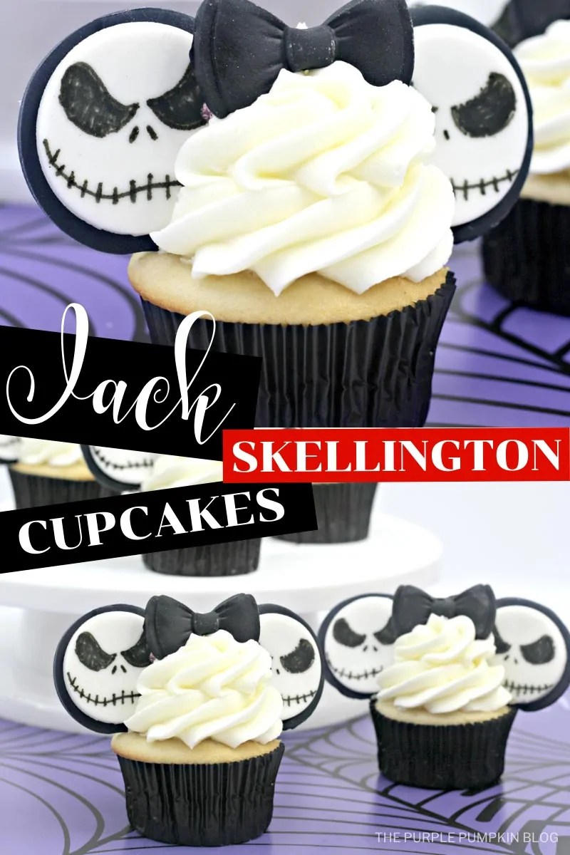 Jack Skellington / Mickey Ears Cupcakes