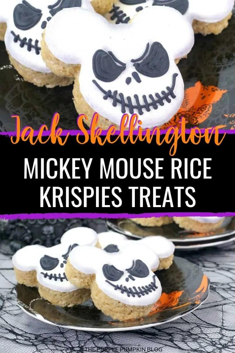 Mickey-Jack Skellington Rice Krispies Treats
