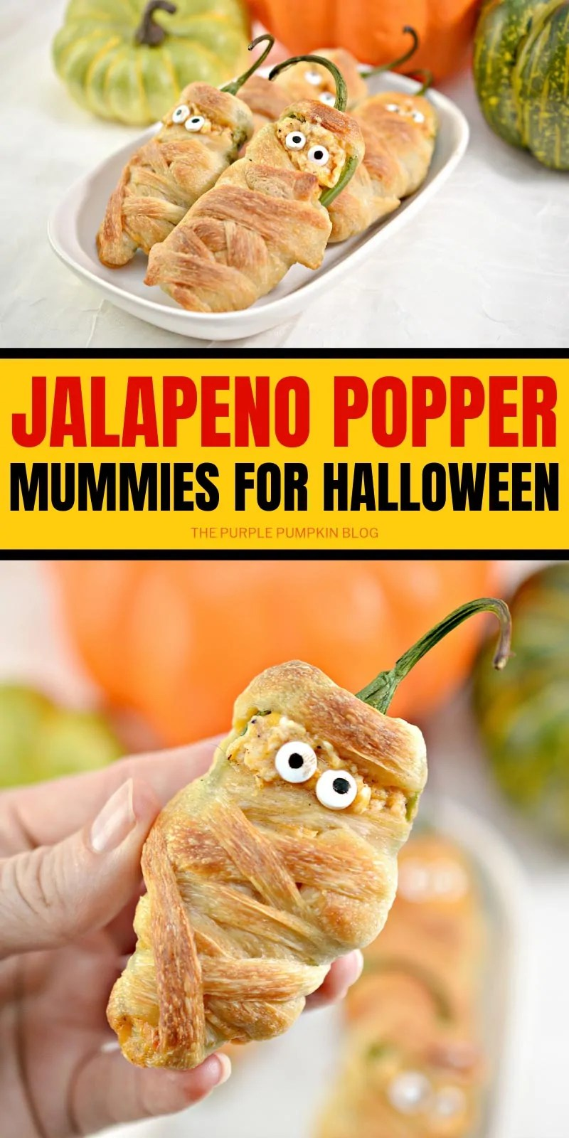 Jalapeno Popper Mummies for Halloween