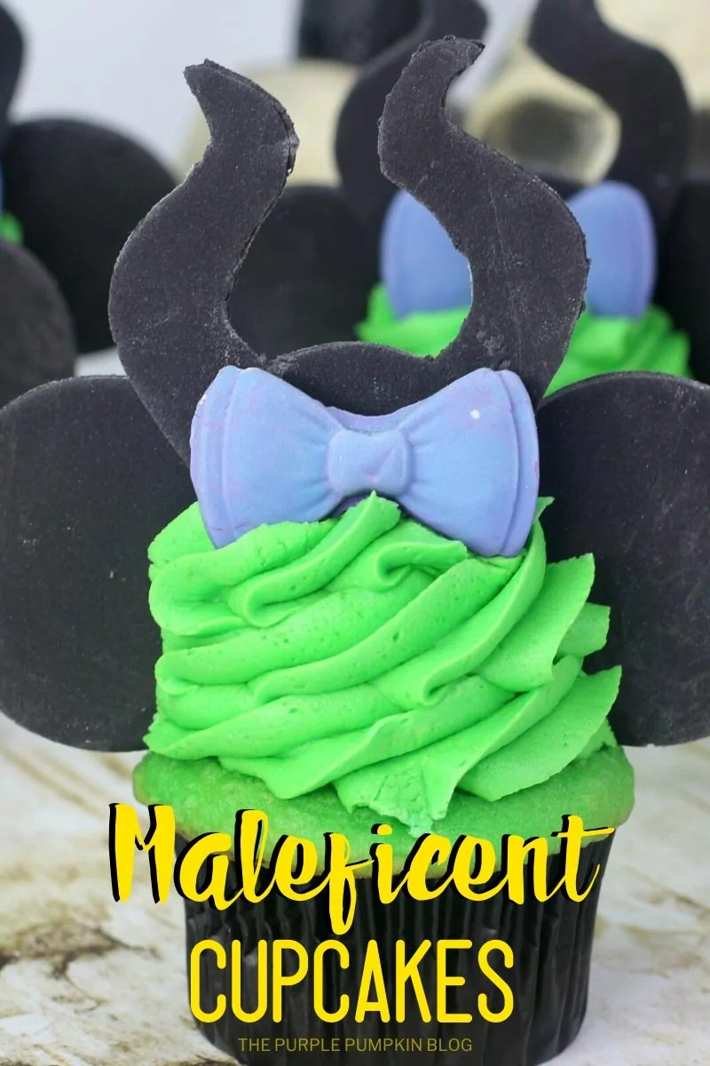 Cupcakes inspired by Disney's Maleficent