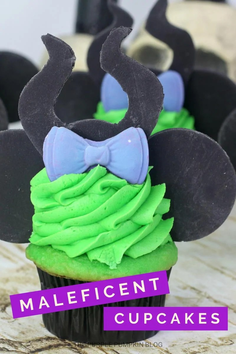 Disney Ears Cupcakes based on Maleficent