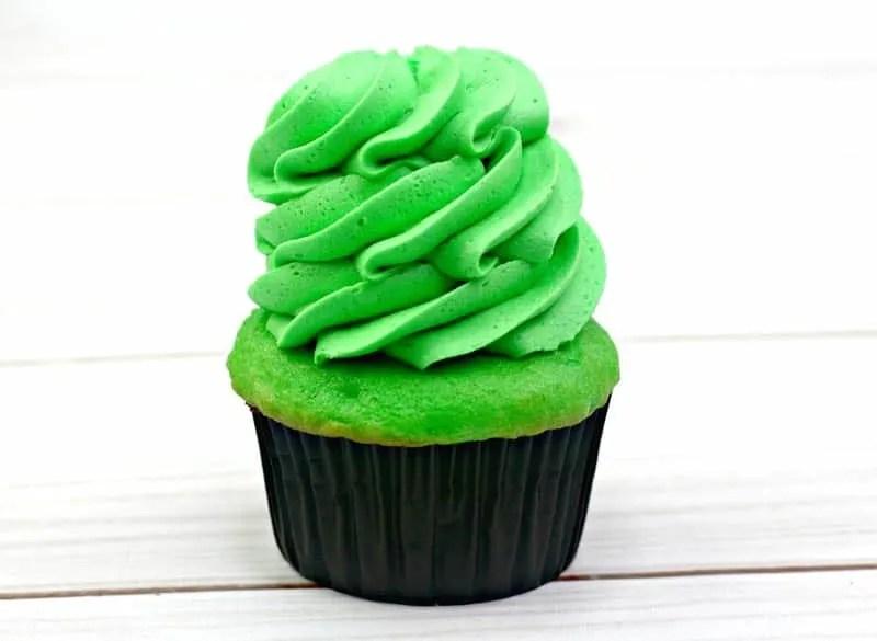 Green Cupcake Frosting Swirl