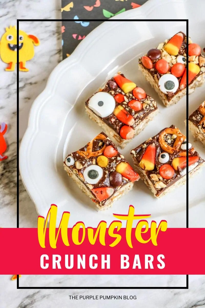 Monster Crunch Bars (Halloween Rice Krispies Treats)