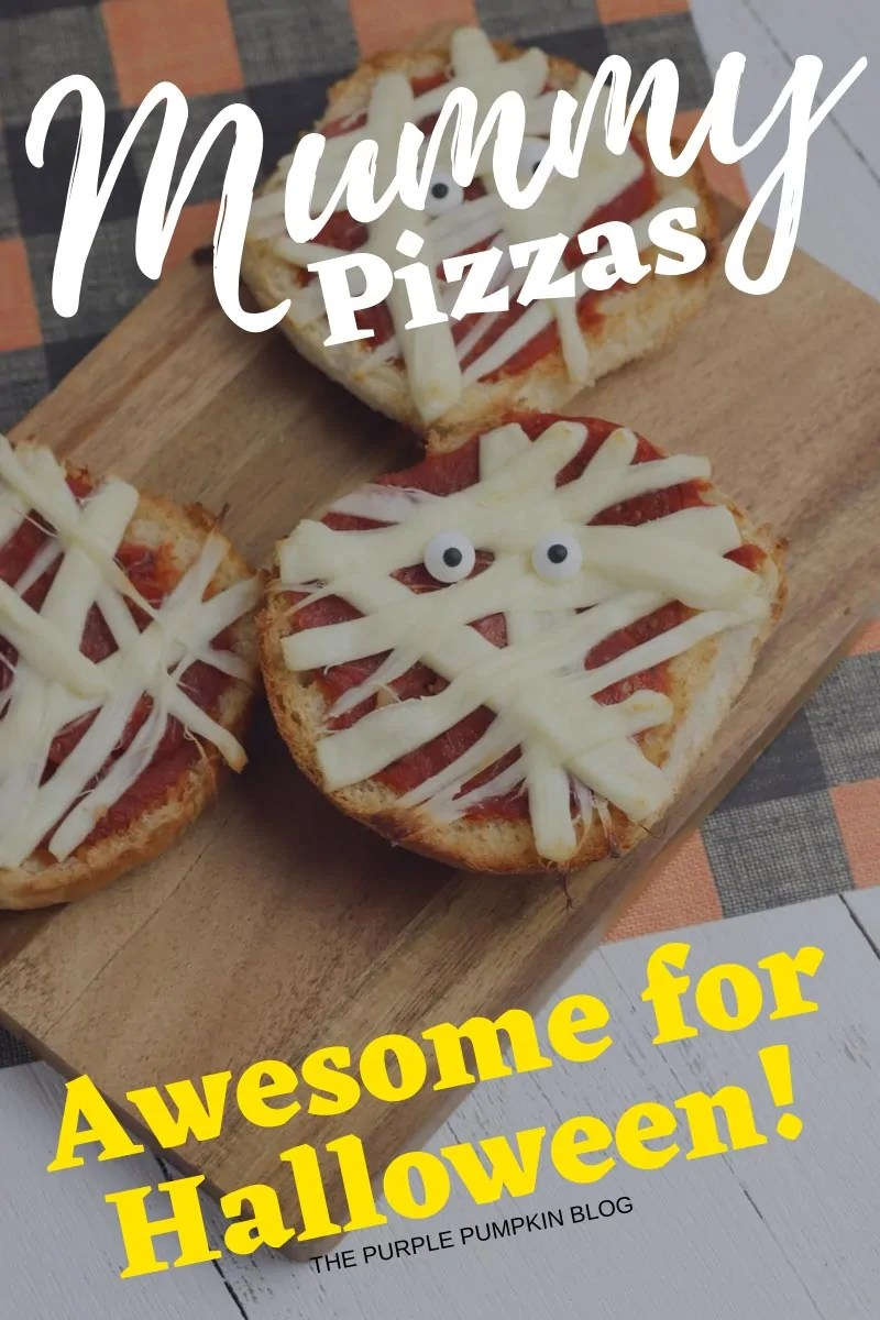 mummy pizzas - awesome for Halloween!