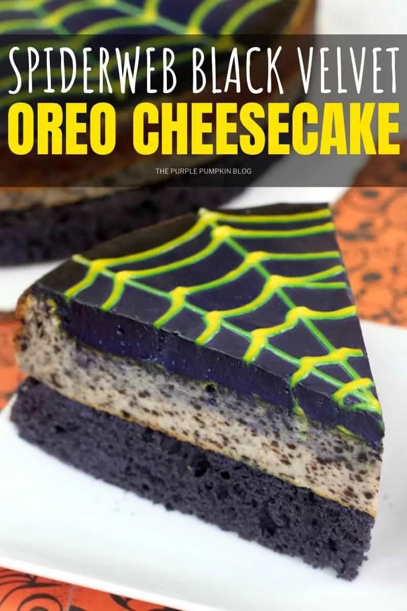 Spiderweb Black Velvet Oreo Cheesecake