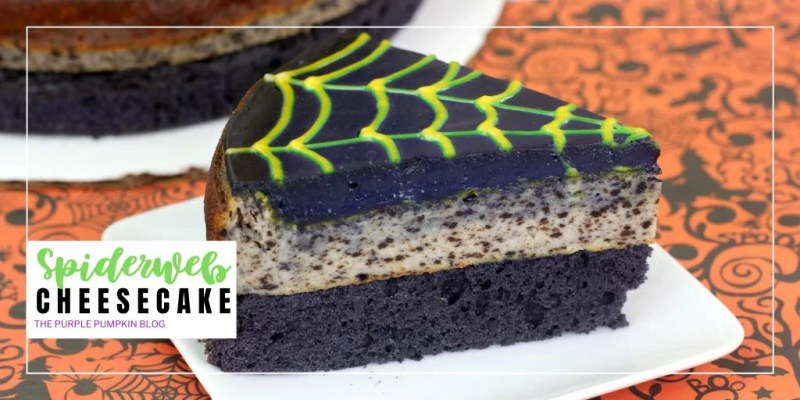 A slice of Halloween cheesecake
