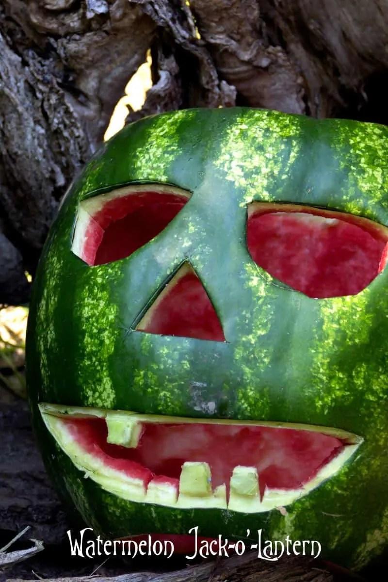 Watermelon Jack o Lantern