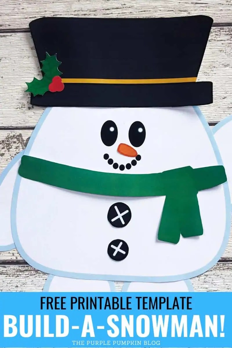 free printable template build-a-snowman!