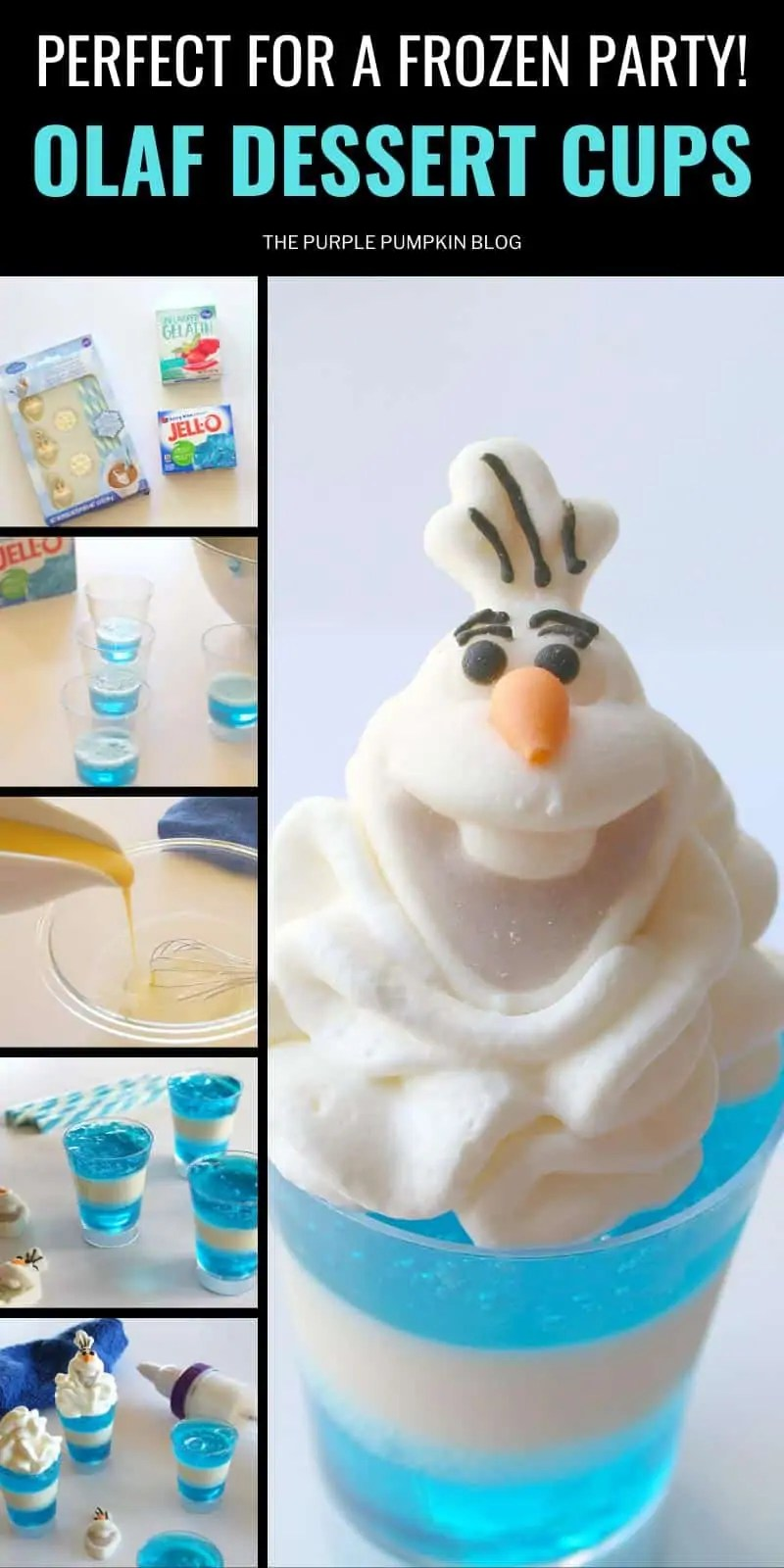 Perfect for a frozen party - Olaf Dessert Cups