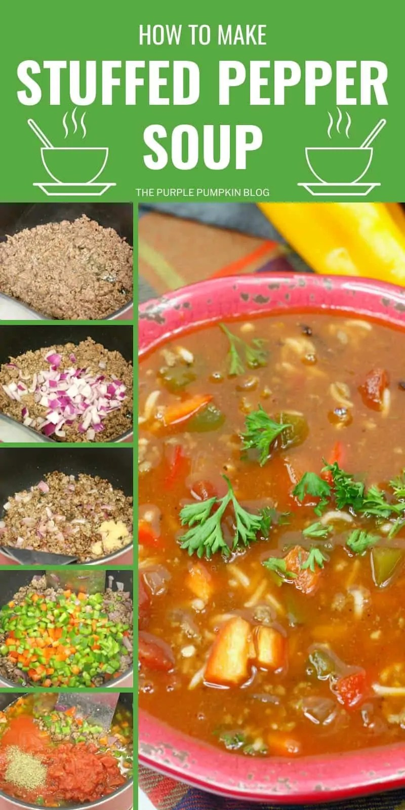 How to make stuffed pepper soup