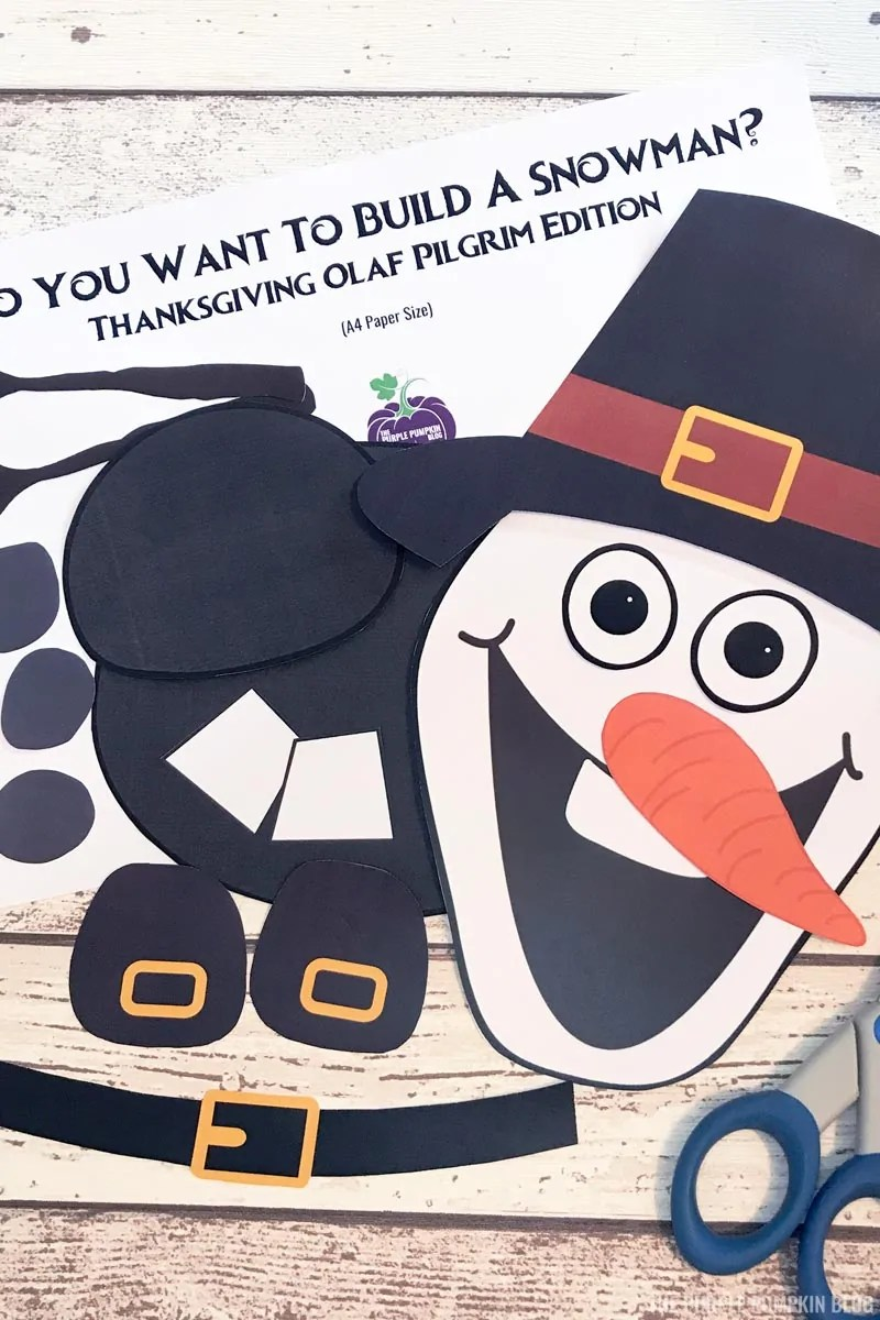 Thanksgiving olaf pieces cut out