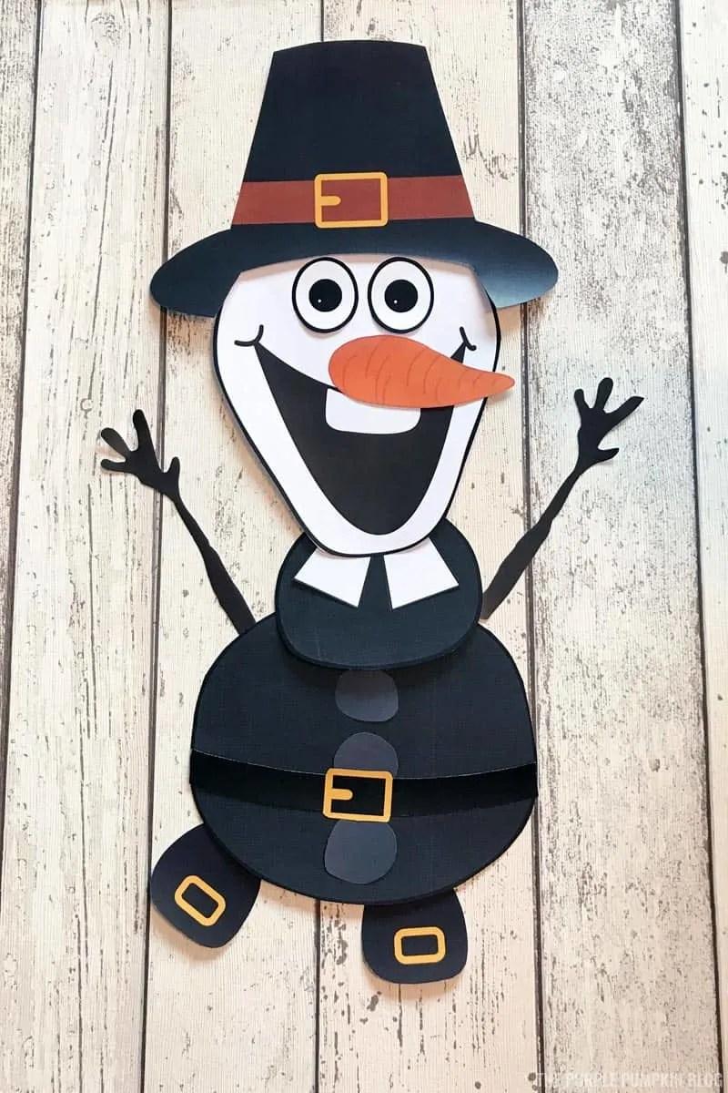 Pilgrim Olaf Craft for Thanksgiving