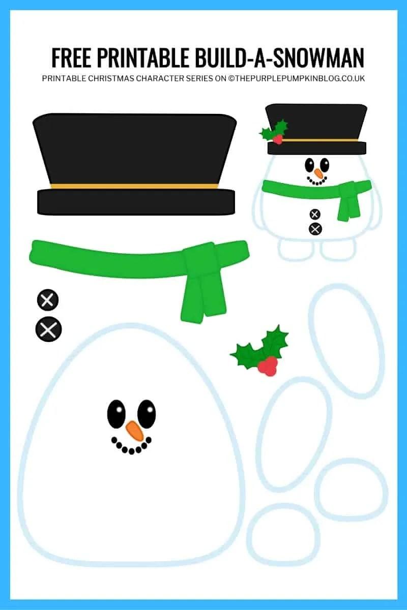 free printable build-a-snowman