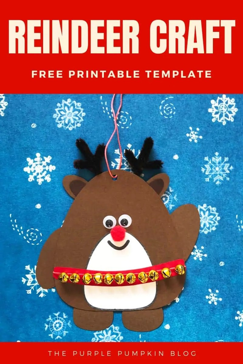 Reindeer Craft - free printable template