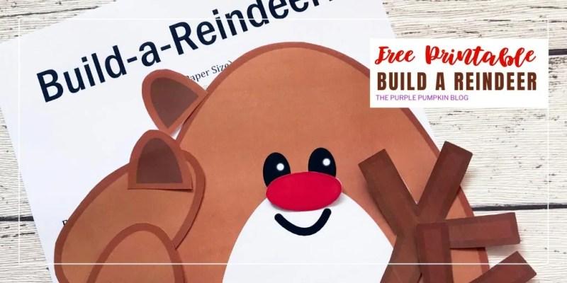 Free Printable build a reindeer