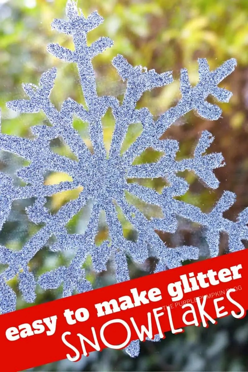 easy to make glitter snowflakes