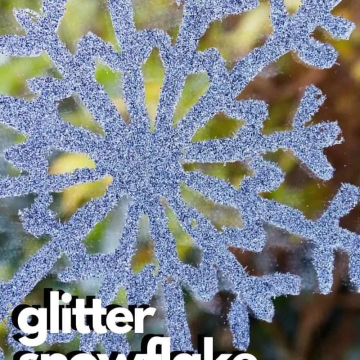 Glitter Snowflake Craft