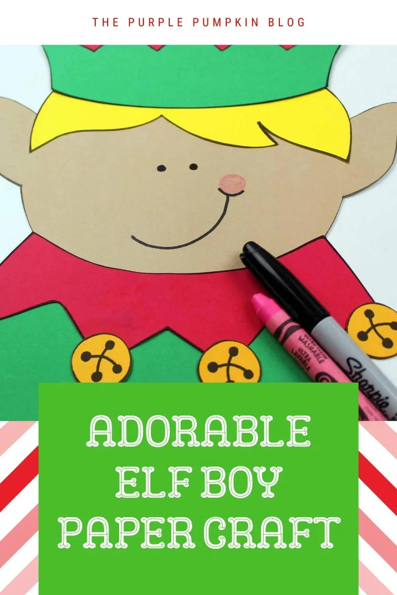 Adorable elf boy paper craft
