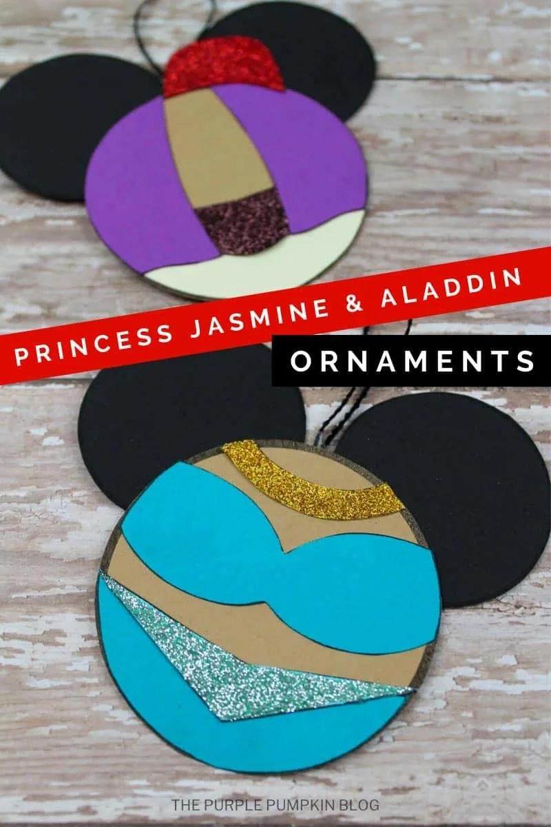 Princess Jasmine & Aladdin Ornaments