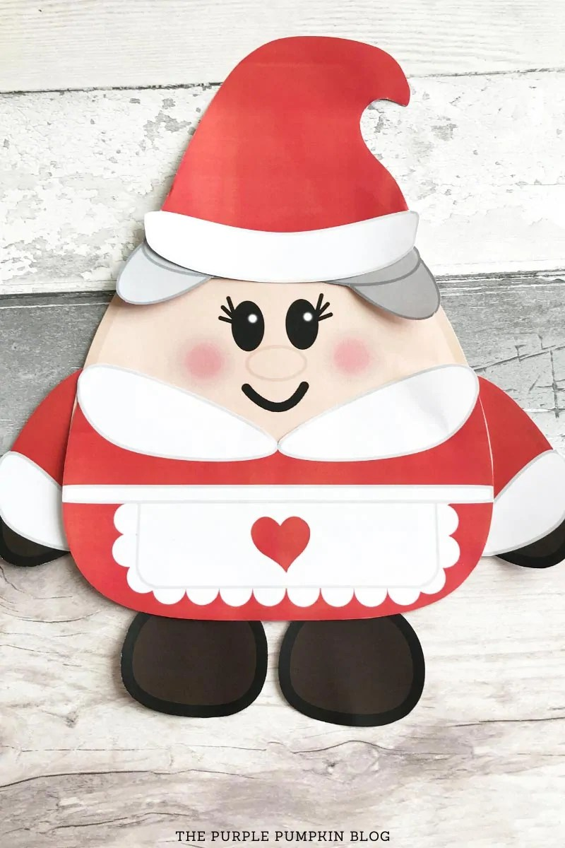 Assembled Mrs Claus Paper Craft
