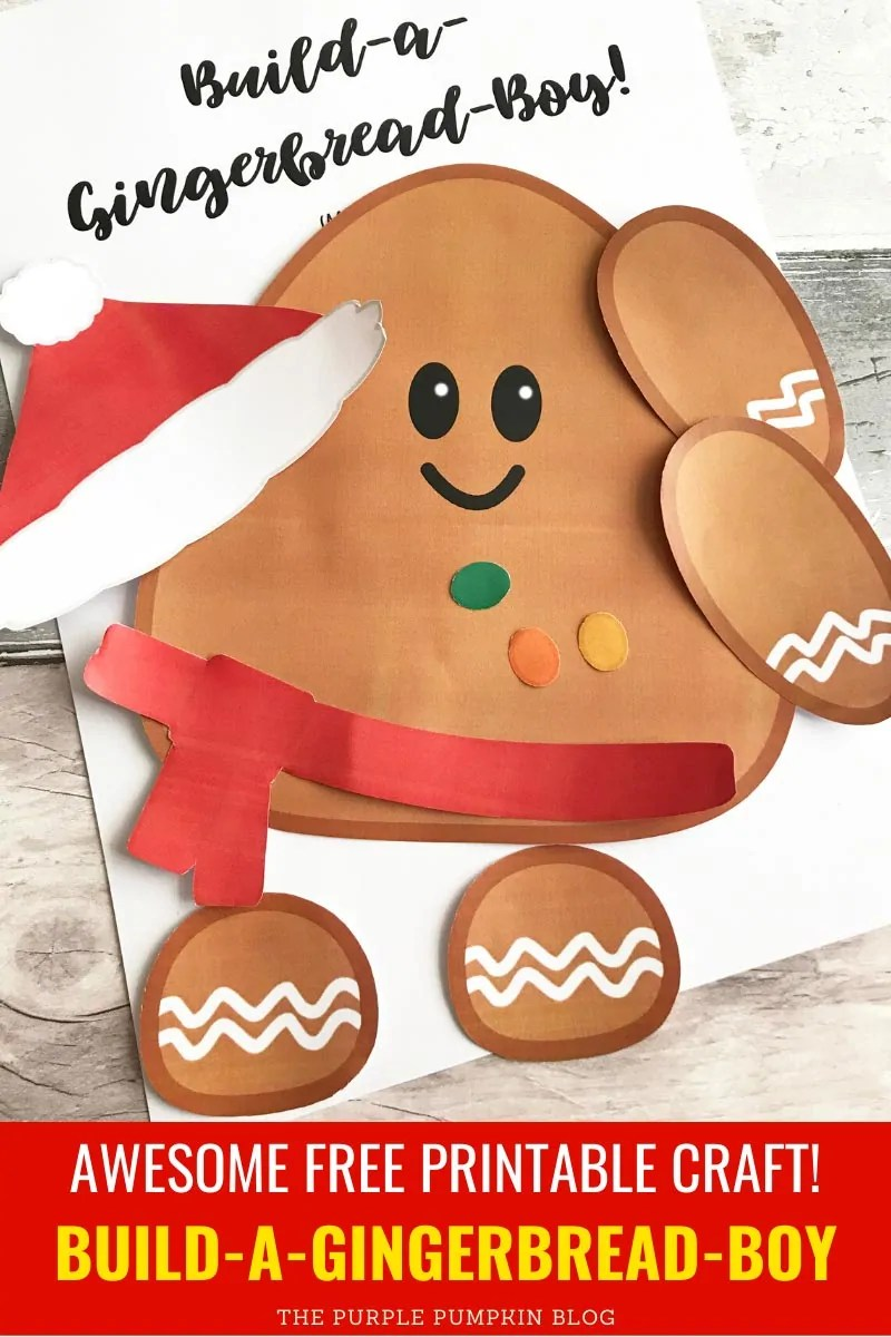 Awesome Free Printable Craft! Build a gingerbread boy