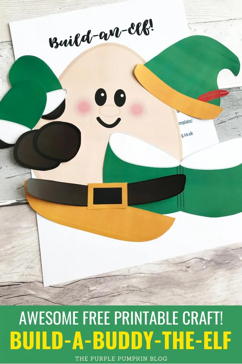 Awesome free printable craft! Build a Buddy the Elf