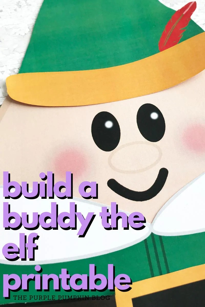 Build a buddy the elf printable