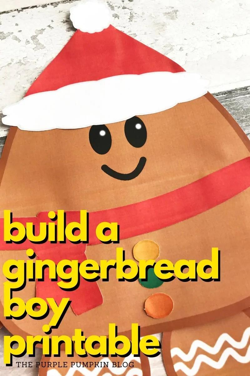 Build a Gingerbread Boy Printable