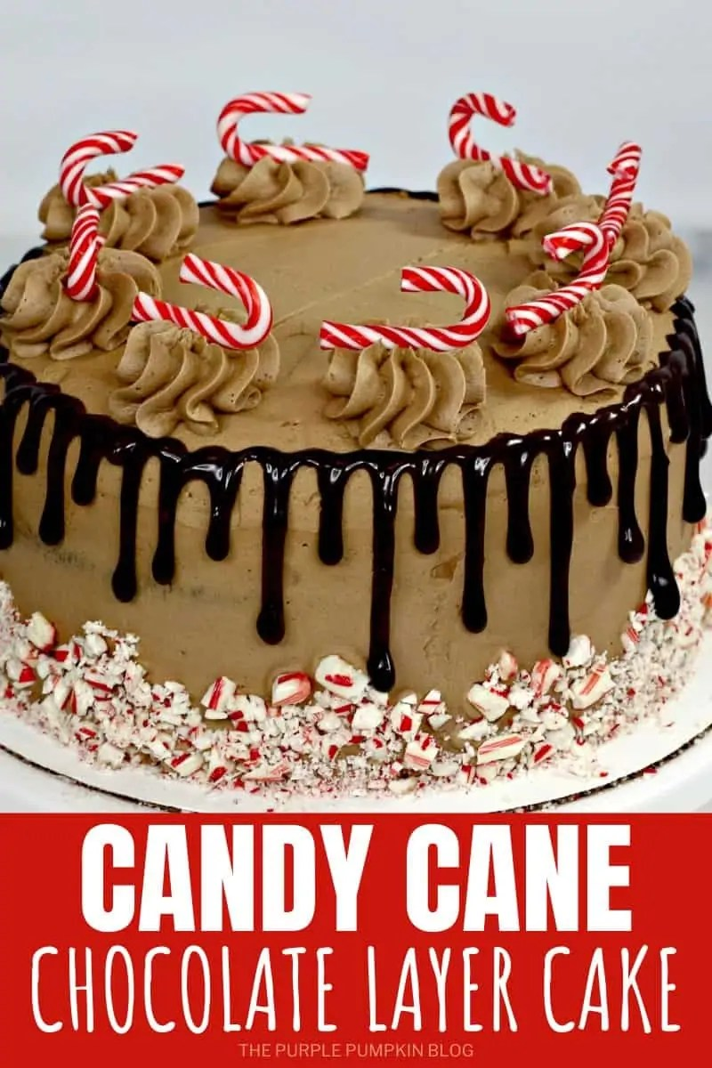 Candy Cane Chocolate Layer Cake