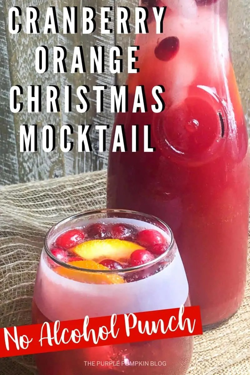 Having a delicious Christmas mocktail recipe under your belt for seasonal parties and gatherings is a must. Mocktails are perfect for non-drinkers and kids, and this sparkling cranberry, orange, and ginger Christmas mocktail really hits the spot! #ChristmasMocktailRecipe #ThePurplePumpkinBlog #ChristmasMocktails #Mocktails #MocktailRecipes #Christmas #ChristmasRecipes #Beverages