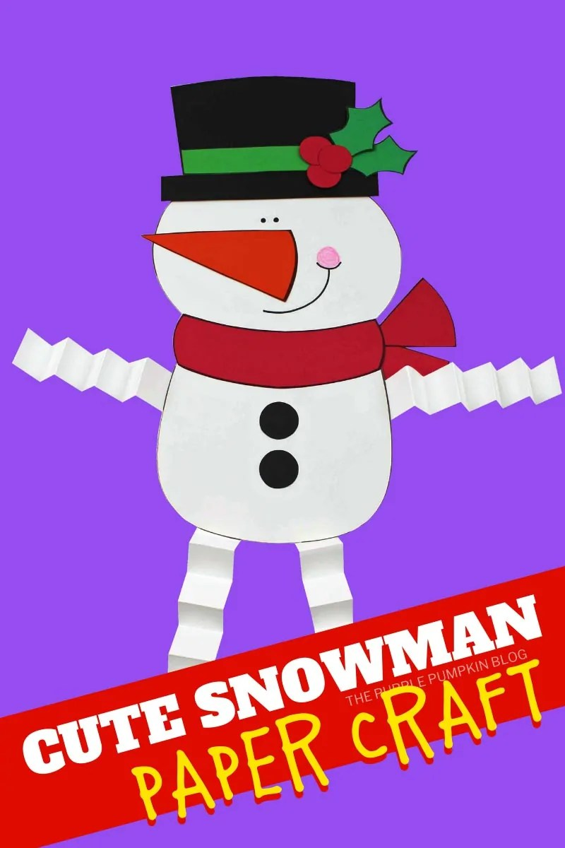 Cute Snowman Paper Craft