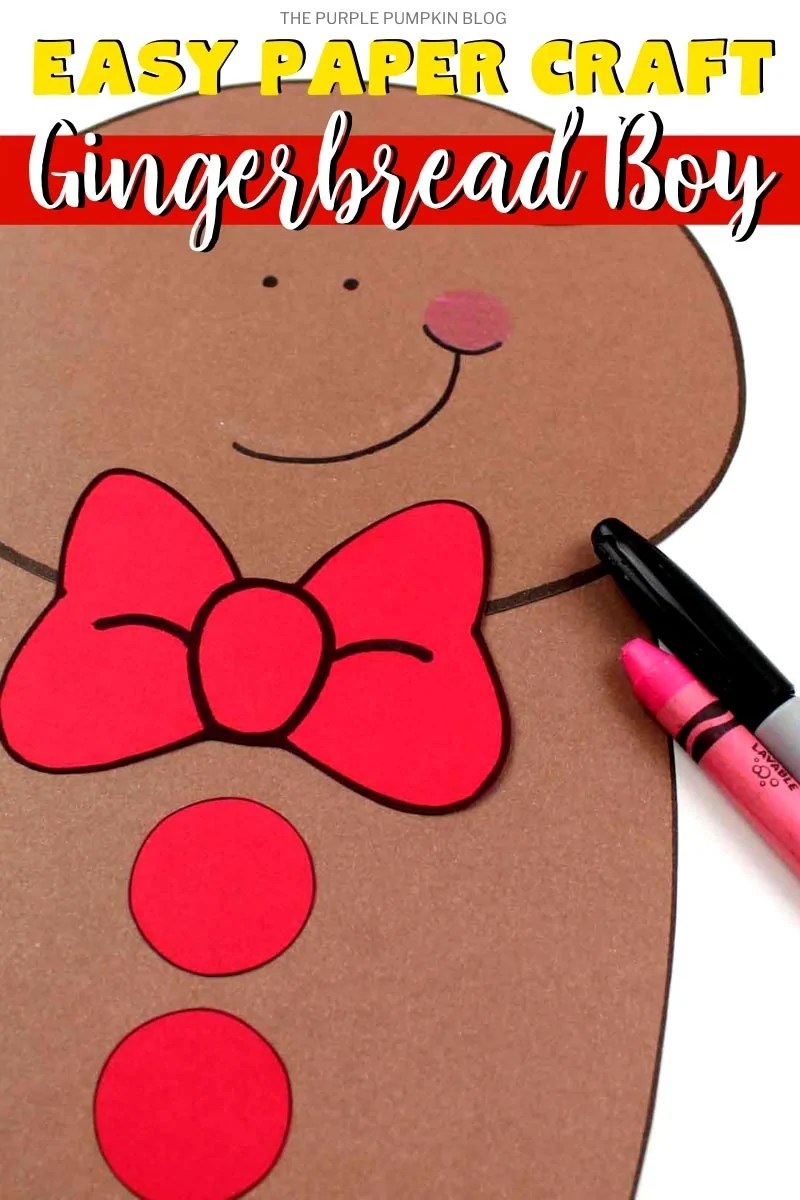 Easy Paper Craft Gingerbread Boy