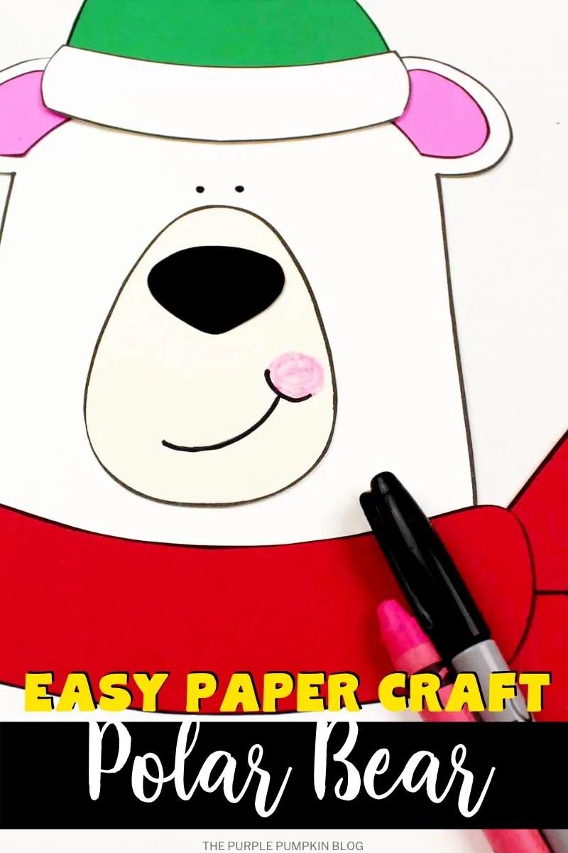 Easy paper craft Polar Bear