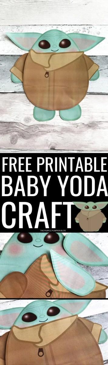 Free Printable Baby Yoda Craft