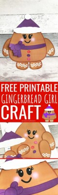 Free Printable Gingerbread Girl Craft