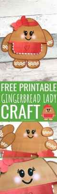 Free Printable Gingerbread Lady Craft