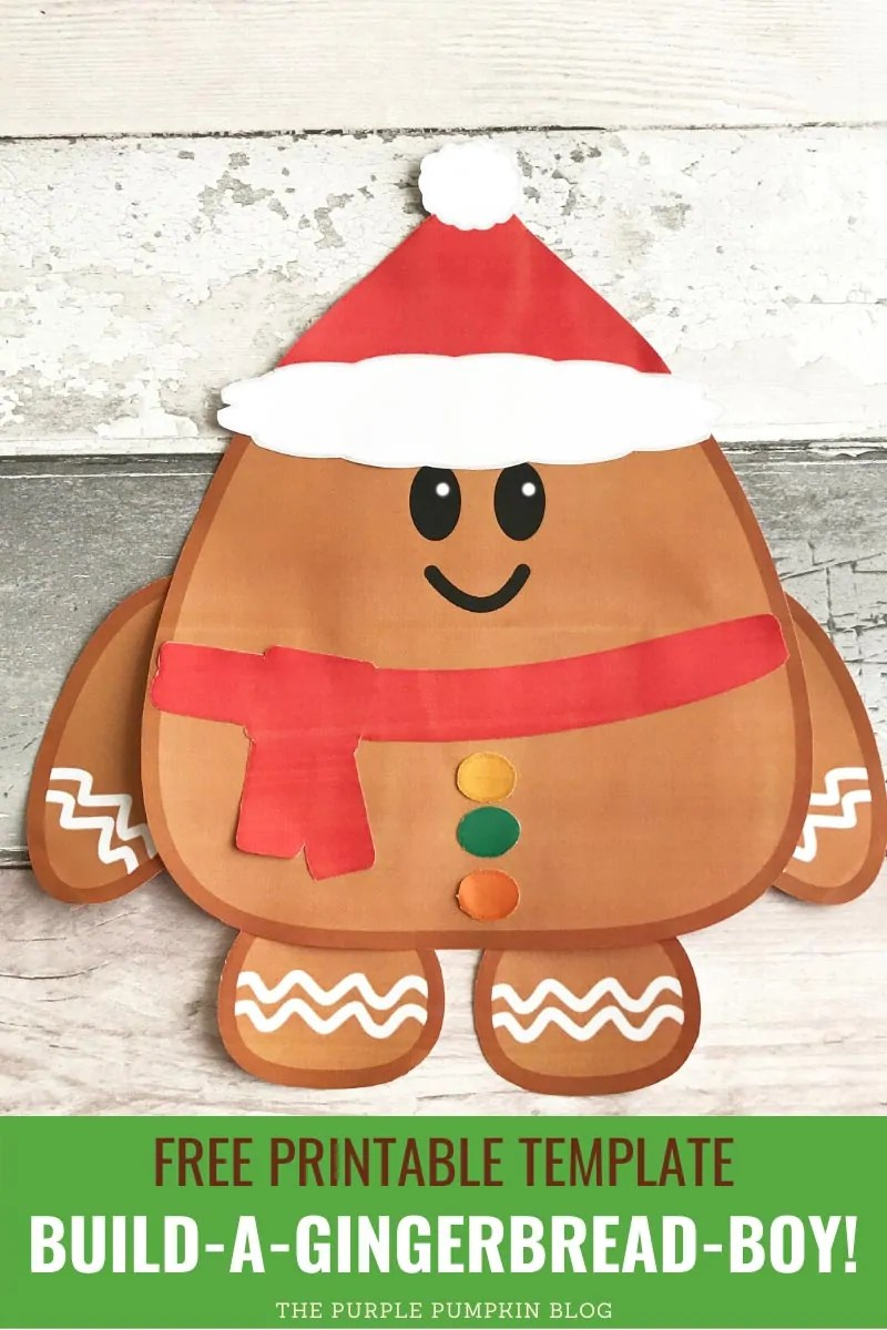 Free Printable Template Build A Gingerbread Boy