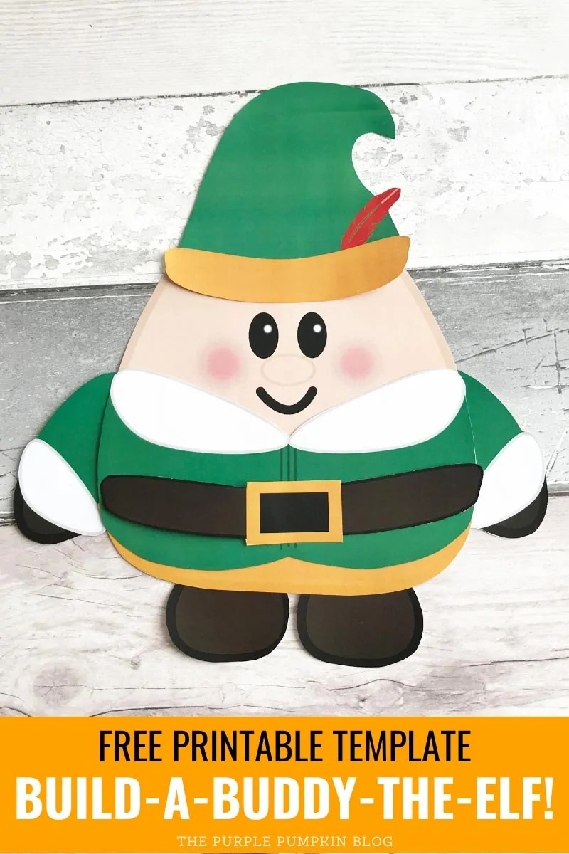 Free Printable Template - Build a Buddy the Elf