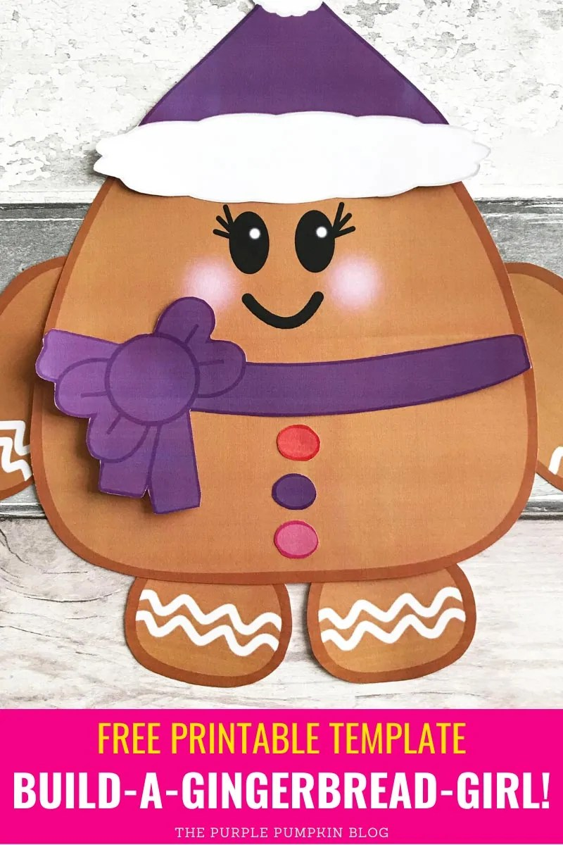 Free Printable Template Build a Gingerbread Girl