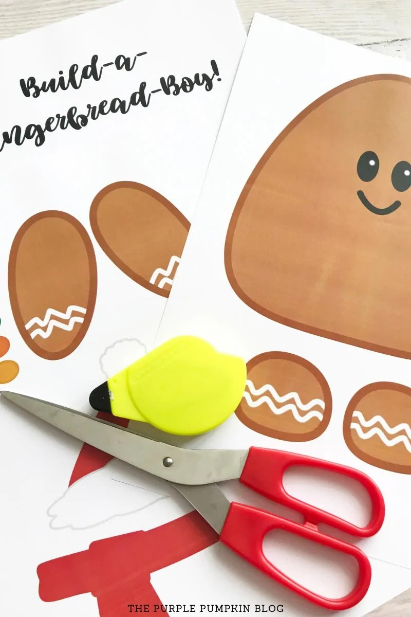 Gingerbread Boy Large Printable