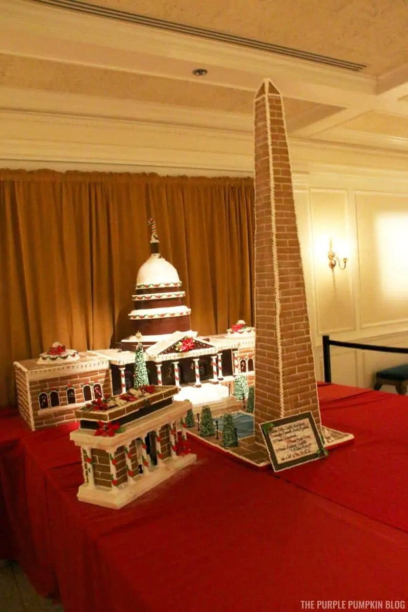 Gingerbread United States Capitol Building, Washington Monument, Lincoln Memorial