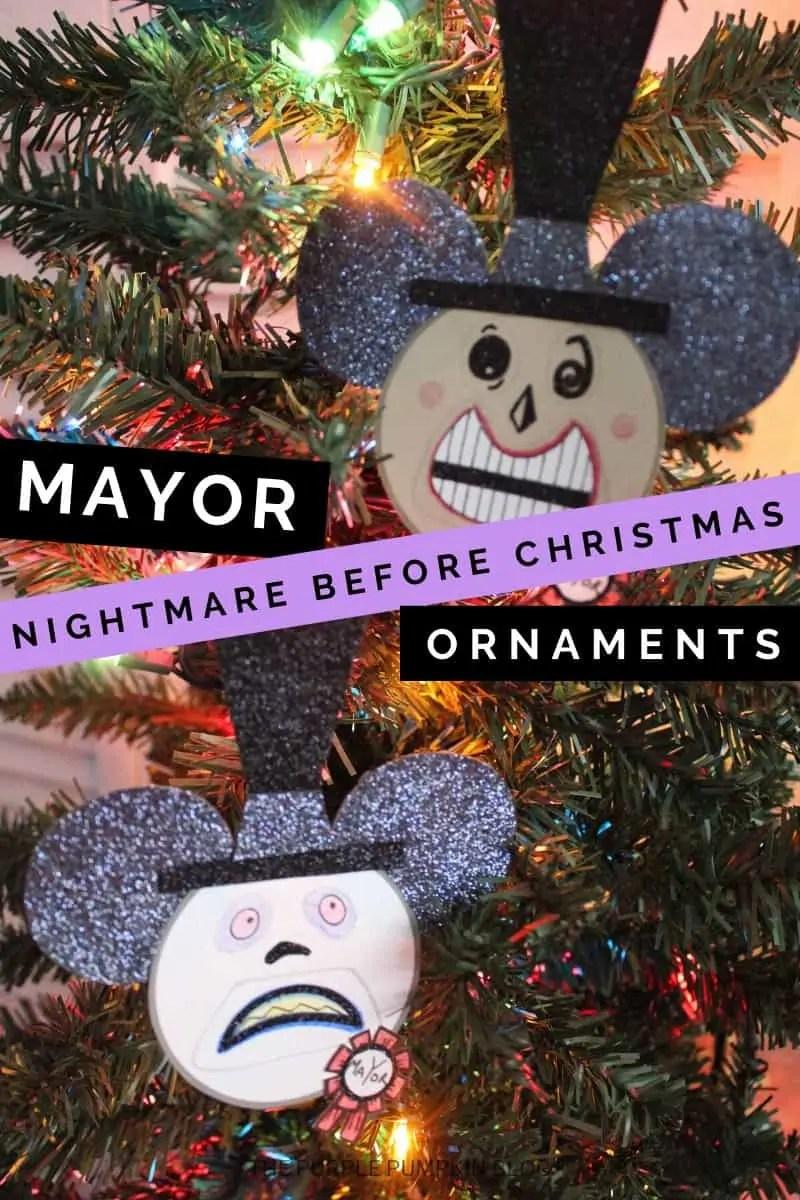 Mayor Nightmare Before Christmas Ornaments