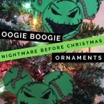 Oogie Boogie Christmas Ornament Craft Nightmare Before Christmas