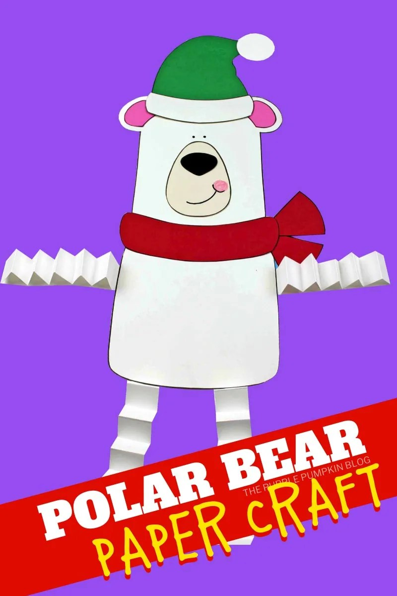 polar bear paper craft