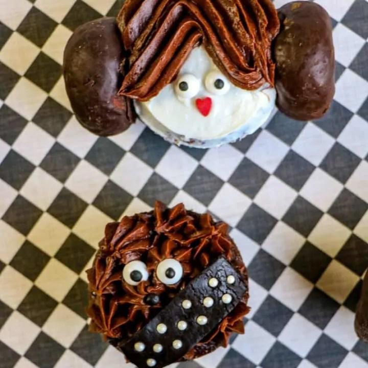 Star Wars Cupcakes (Princess Leia & Chewbacca)