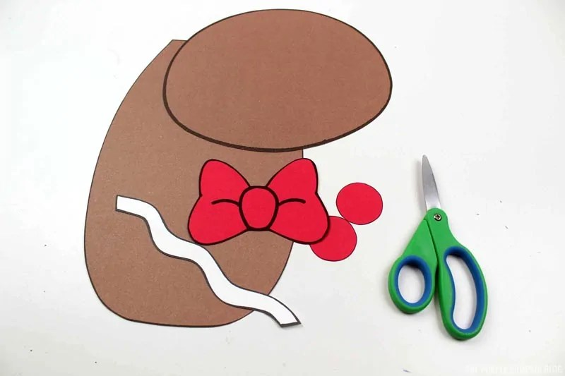 gingerbread boy cut pieces